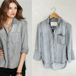 Bella Dahl chambray button blouse size XS